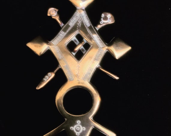 Good luck Cross Touareg Amulet Talisman Silver Tribal Jewelry African Berber Nomadic  art Authentic Handmade decor  Tuareg  collector