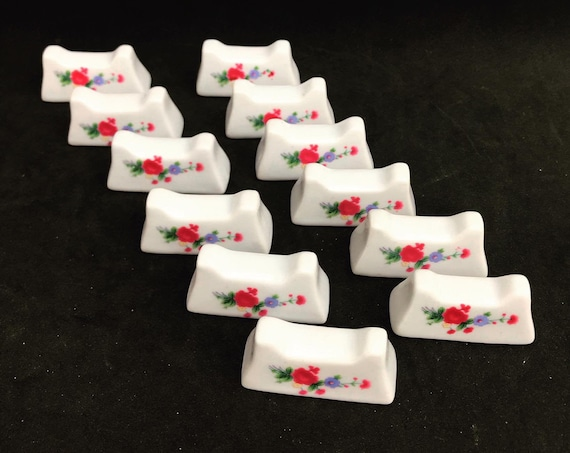 Cutlery rests set of 12 porcelaine table settings romantic table