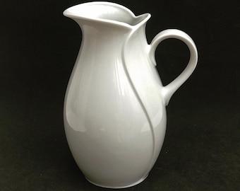 Milk Jar KPM Winterling Porcelain Milk or water jar White Vintage German Pitcher Creamer Gift for her Replacement German Porcelain