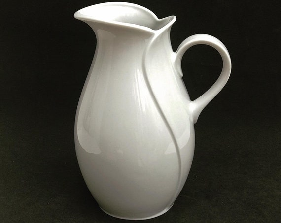 Milk Jar KPM Winterling Porcelain Milk or water jar White Vintage German Pitcher Creamer Gift for her Replacement German Porcelain