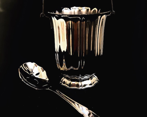 Ice Bucket Jean Couzon France Mid Century stainless steel cooler ice bucket bar cart wedding gift