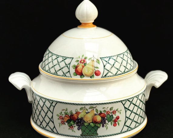 Soup Tureen Villeroy & Boch Basket vegetable bowl with lid Collectable China Replacement Vintage Discontinued wedding gift