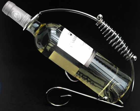 Bottle Holder Wine Basket, wine Cradle Chrome 1970s  Wine Caddy, Wire Bottle Server, Metal Bottle Stand Wine Bottle Display, Wine Carrier