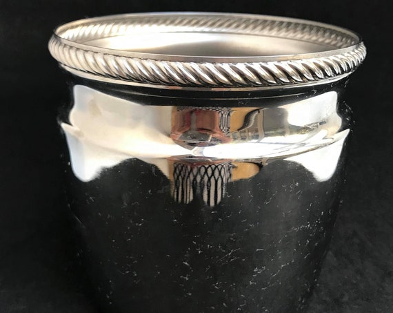 Alessi Vintage Ice Bucket Retro Bar by Carlo Alessi for Alfra  Accessories Stainless bar cart decor Mid Century Metal Ice Bucket