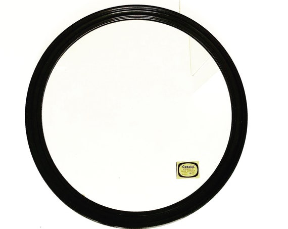 Vintage round wall mirror Large ready to hang Circular mirror by Geratal plastic  60s - 70s hanging vintage retro design