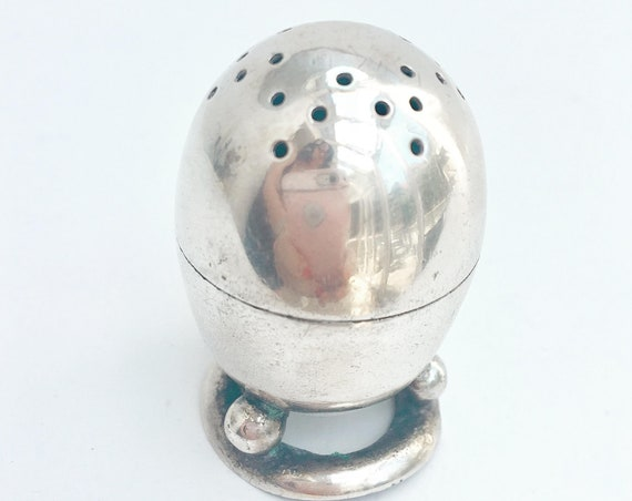 Victorian salt shaker William Hutton of Sheffield, XIX Century Silver plated, Antique salt table, English silver plated, collectors