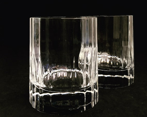 Whisky tumbler glass set 2 heavy Cristal Luigi Bormioli blown glass Bach Tumblerglas Scotch Drink Whisky Bourbon Vintage gift for him