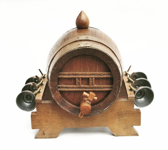Small wood barrel Wine Serving Oak Decorative Brewing Supplies For Brandy Wooden Mini Beer Keg  Whiskey Tequila brandy Rustic Decor Kitchen
