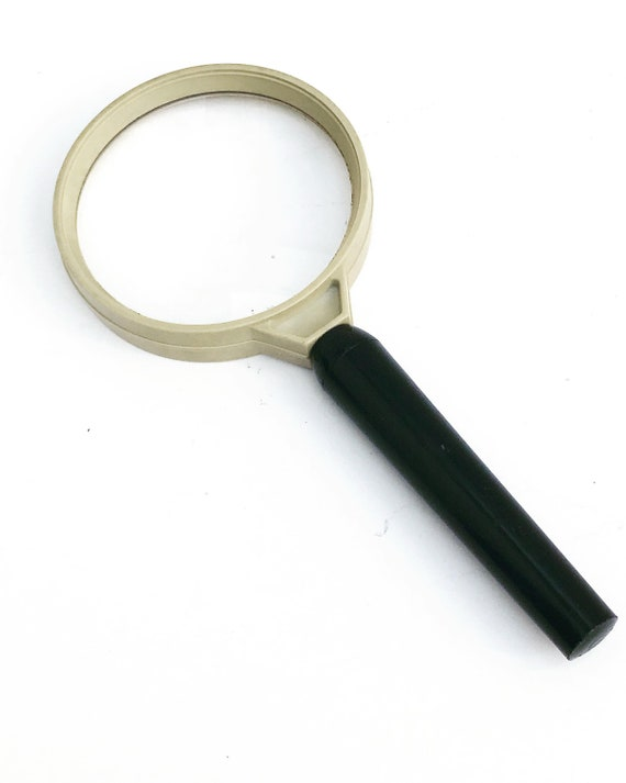 Vintage Magnifying Glass Desk large size, Ancient magnifier round , Made inGermany