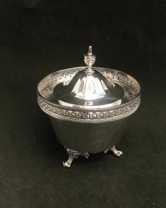Antique Victorian Silver Metal Sugar Bowl or Jam Jar Padley, Parkin & Staniforth Sheffield Sugar Bowl c 1860 Victorian Gift wedding gift