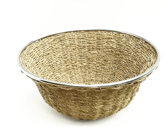 Rope Basket Vintage, Modern Farmhouse style, Rustic Decor, Large centerpiece Bowl  Large round Fruit Planter Gift for Mom, Christmas gift
