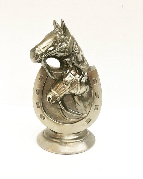 Vintage table lighter, horseshoe lighter, smoking accessory, Occupied Japan 1930s Horse,  Gift for Him, gaslight Horses, Gift Smoker gaz