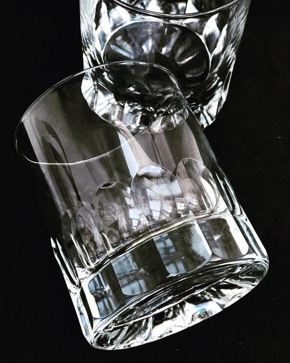 Whisky tumbler glass set 2 heavy Cristal Cut Germany glass Tumblerglas Scotch Drink Whisky Bourbon Vintage gift for him