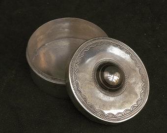 Tribal Jewelry Touareg Silver box African Berber Nomadic  Traditionalart Authentic Handmade  Sahara Ethnic decor  Gift box collector ring