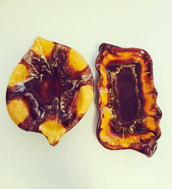 Bol Vallauris, rare, appetizer dish, empty pockets, ceramic jewelry enamelled dish, 1 lemon-shaped slip. Empty pockets ceramic enamelled