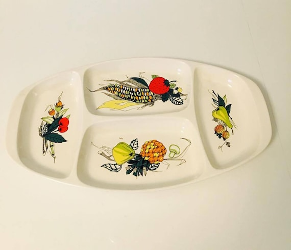 Villeroy and Boch plate retro kitchen appetizer tray mid century china replacement dish vintage porcelain serving platter 50's 60's decor.
