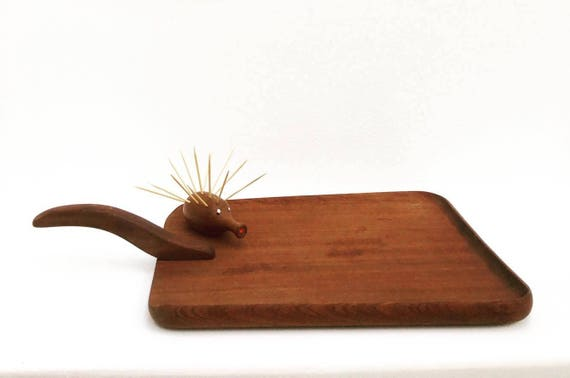 Cutting Board Vintage, Wooden Serving Teak by Bois Manu, Thanksgiving Table,  Mid Century, Bread Cheese  Appetizer Food photography prop