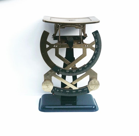 Vintage Letter Postal  Scale Table Bilateral balance by Jacob Maul, Up to 1000 gr Zell, Germany Postal/Letter Metal Scale 1930s balance