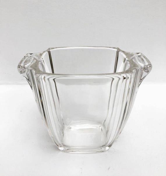 Art Deco Glass Vase 30s Rectangular Old Glass Art Deco