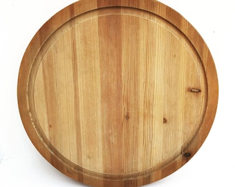Cutting board wooden pizza steak serving Vintage Round Farmhouse decor charcuterie board Appetizer Dish Tray Large Food photography prop
