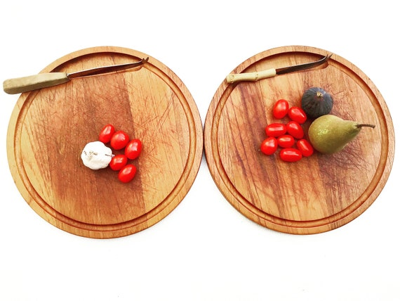 Cutting board meat wooden 2 pizza steak serving Vintage Round Farmhouse decor charcuterie board Appetizer Tray Large Food photography prop