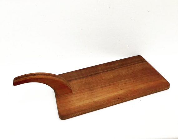Wooden Cutting Board Danish Vintage tools Mid Century Cheese board Bread cutting board appetizers platter bar kitchen  Food photography prop