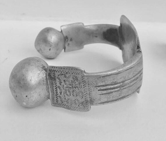 Vintage Tuareg Bracelet, Anklet Bracelet, Ethno jewelry Ethnic Tribal Jewelry Moor anklets,  Khal Khal  anklet bracelets in aluminum