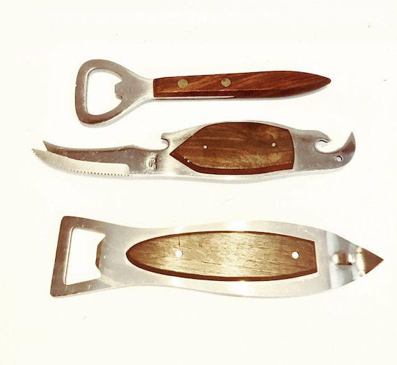 Vintage Bottle Opener Set, parrot bottle opener Bar knife Mid century modern, 1960s, Barware accessories  Danish , bar tool