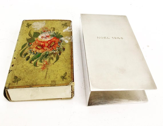 Match box art match dispenser Match Large box holder box cover silver plated France Match Safe Box Case Gift for him Barbecue accessories