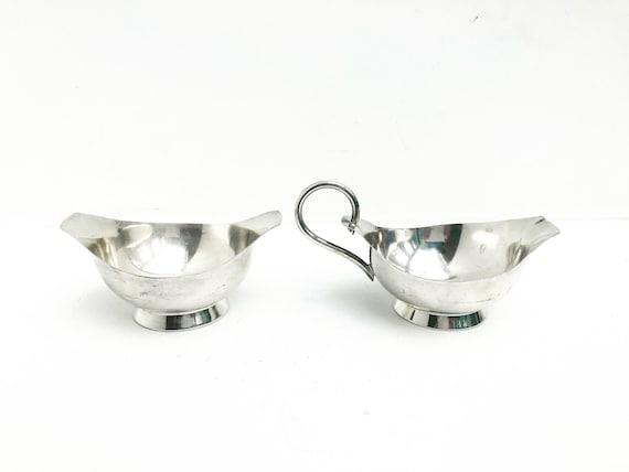 Creamer and sugar bowl Nysolv 60gr Norway Silver Plated Mid Century Modern Scandinavian design scandinave table Modernist Kitchen decoration