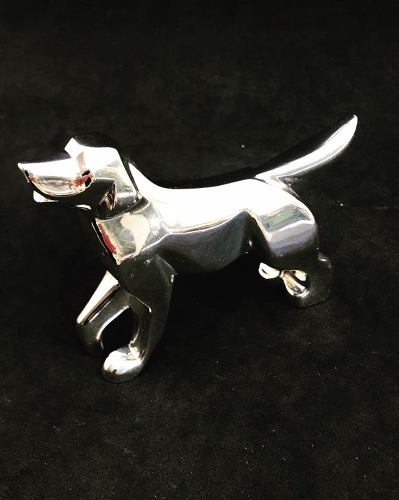 Christofle Dog Figurine  Zodiac Collection Silver plated Paperweight France rare Chinese  Dog Year Sculpture design gift for animal lover