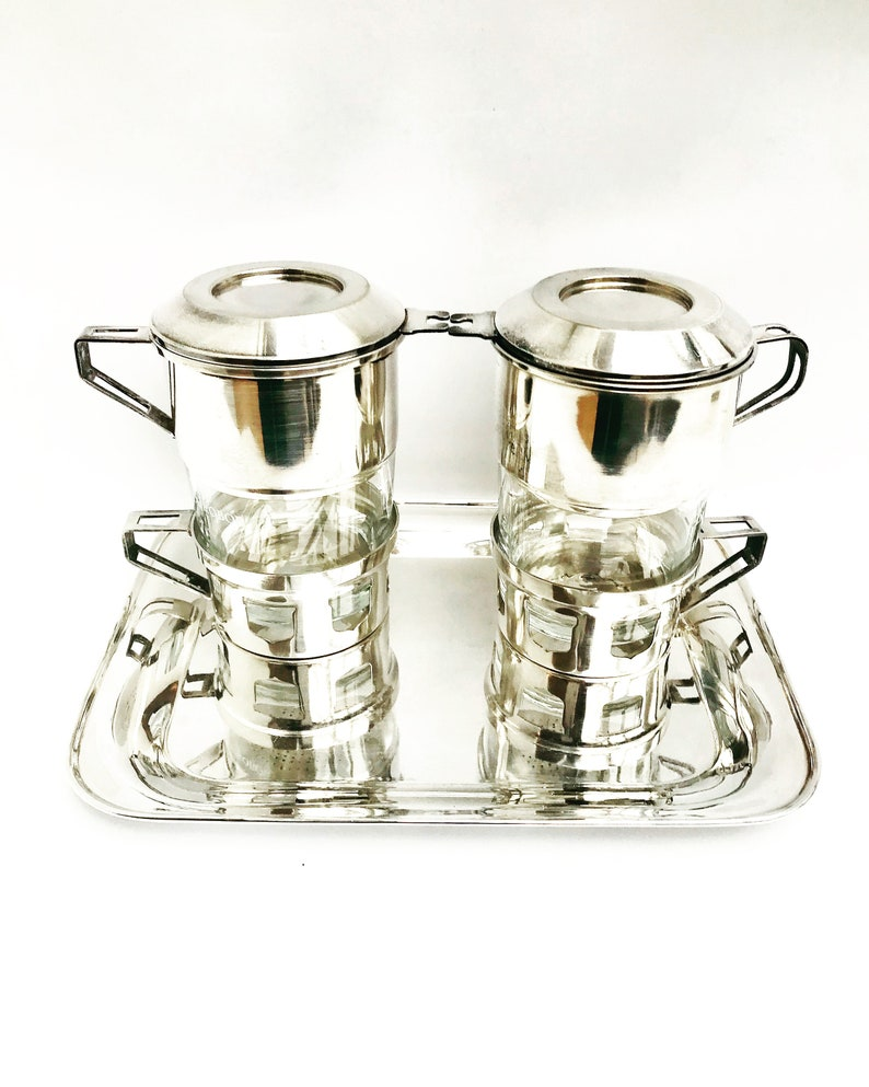 French Vintage Coffee Makers Art Deco Single Cup Coffee Filter Etsy