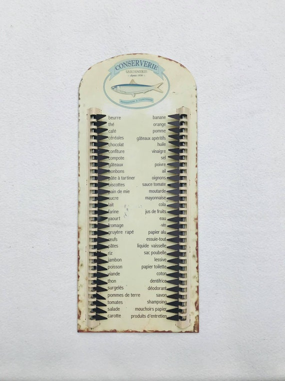 Vintage grocery shopping list Household reminder, Vintage Running Grocery Hanging  List Sign Household Wants Indicator Kitchen decor, 1980s