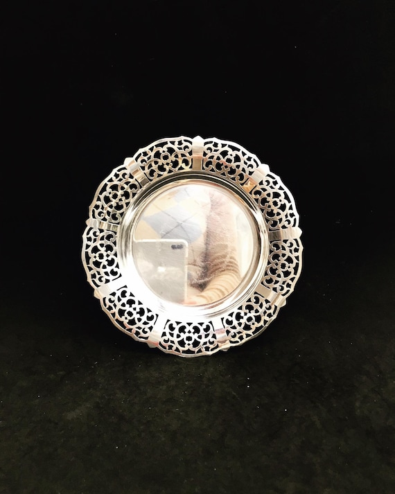 Antique French Candy Bowl, Lovelace Silver Plateded Dish Sweet  Saint Valentin Gift  Silver Nut Bowl  Jewelery  Plate