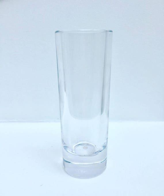 Vintage crystal  Sevres France Clear Lead old Crystal Art glass Signed Mid Century crystal Sevres France acid marked  cylindrical