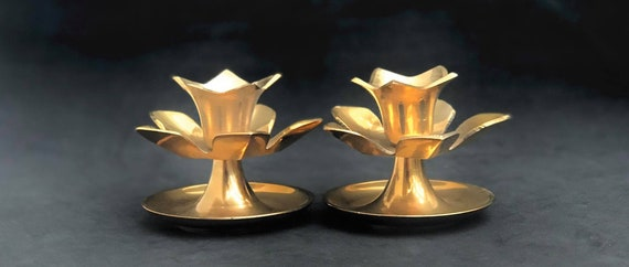Bronze candlesticks holder pair French Vintage candle holders, Bronze accessories table desk decor dinner Candelabra accents lighting