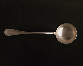 Soup ladle vintage Silver plated Ladle Large Baguette Fidelio Antique French Wedding gift for hostess french cutlery