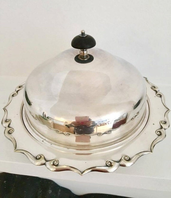 Candy dish Chocolates Silver Plated Muffin Harrison Brothers  Sheffield England 1920s, Lidded Bowl Butter Dish With Lid wedding gift for mom