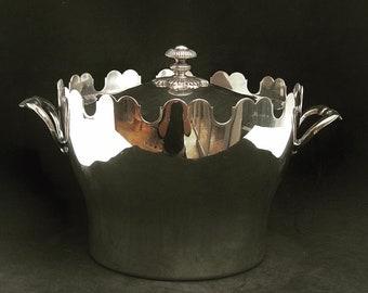 Christofle Ice Bucket Gallia Vintage Silver plated gift him ice cube holder barware mixology tool wedding gift decor bar cart