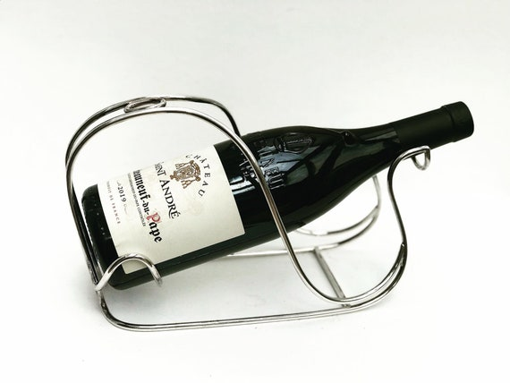 Wine holder cradle bottle stand made in Belgium Wine cradle, wine holder stand bar accessories gift for him  bar tools