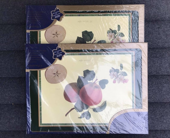 Pimpernel cork placemats set of 8 Large size Fruits illustrations Cork Back Placemat Table Top Home Decor  Kitchen  gift mom