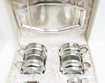 French Vintage Coffee Makers percolator Single Cup Coffee filter french coffee Filter Single Cup  Silver Plated French Vintage Drip O Lator