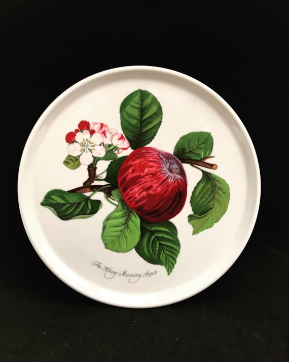 """Portmeirion Pomona Vintage Dinner plate or cake plate Morning Apple gift collector service plate 10"""" Grimwoods Royal George"""