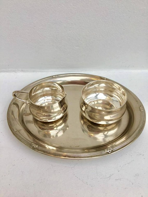 WMF little set for coffee, WMF tray, pitcher and Bowl silver plated Grenadier