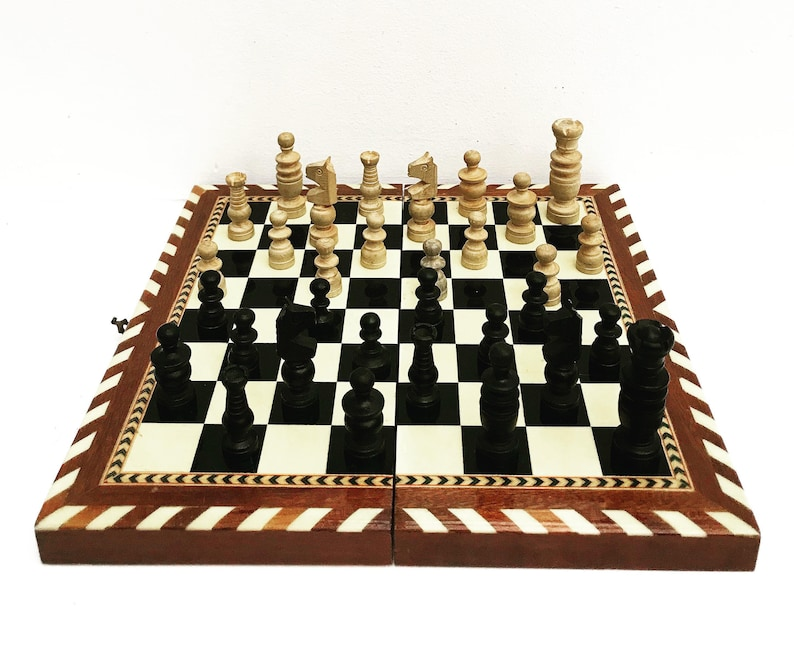 Vintage Chess Game Box Family Games Checkers Board Vintage Etsy