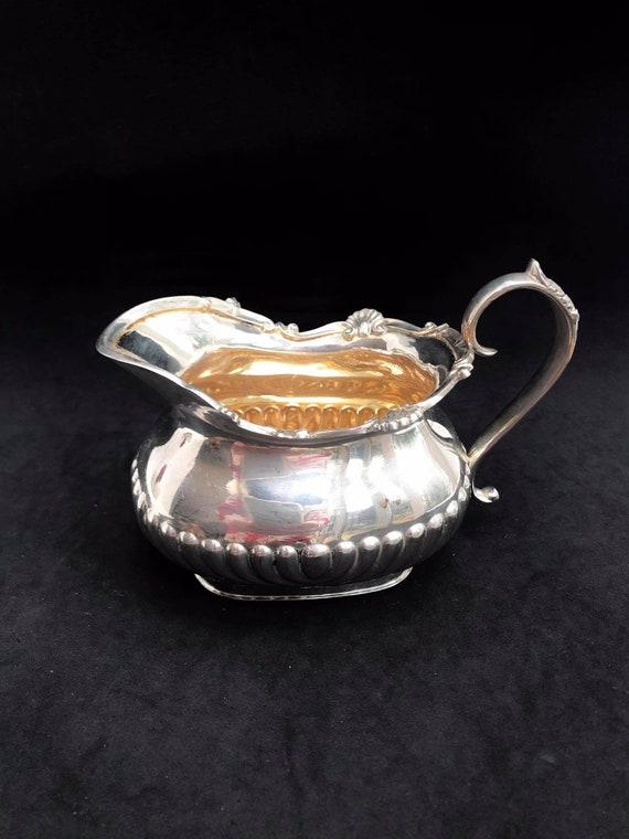Vintage Creamer Milk Jug Edwardian Silver Plated Cream Jug Milk Pot Sheffield, England Breakfast table wedding gift