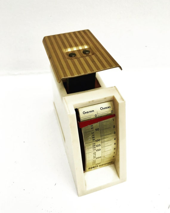 Vintage Letter Scale, Postal Scale postage balance 250g weight  from 1970s grammes and ounces desk decoration accessoires gift for him