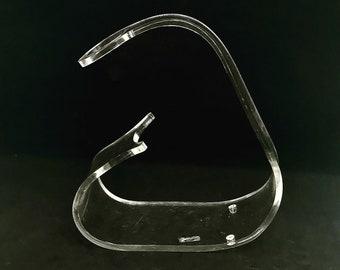 Wine bottle holder vintage 70s Clear Acrylic Lucite Mod Design by Emson Mid century design 70s single rack wine bottle beverage display