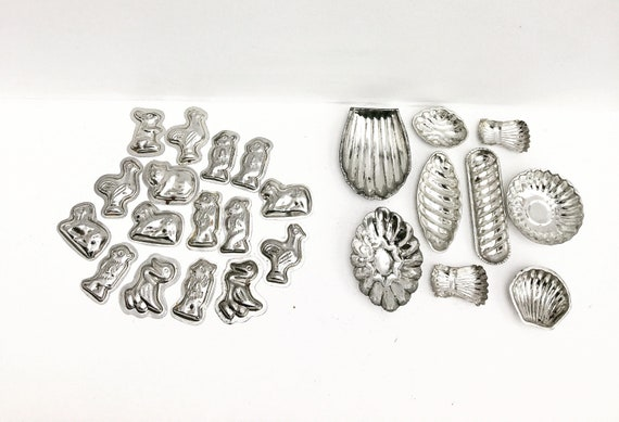 Vintage Molds Chocolate molds  madeleines Mold Mousse Metal Cake Mold Cake Pan Pastry Shape Pudding Terrine Aluminum mold Muffin Mold Cake