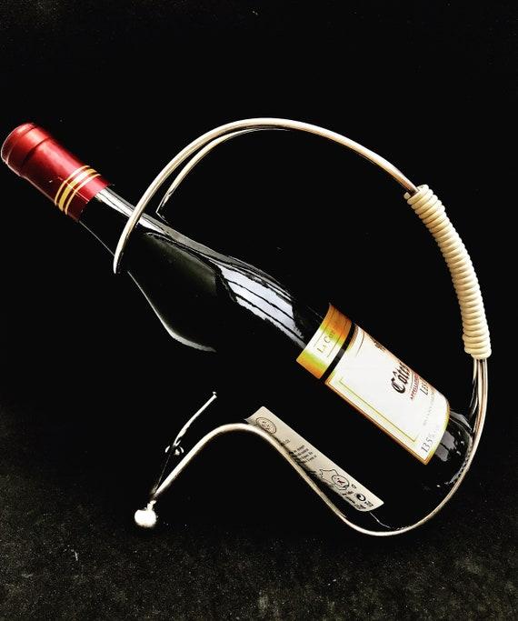 Wine bottle Stand holder cradle holder made in France Wine cradle, wine holder, Mid Century, bar accessories, gift for him , bar tools